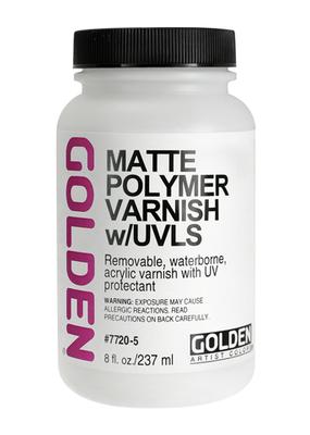 Golden Golden Acrylic Polymer Varnish Matte 8 Ounce