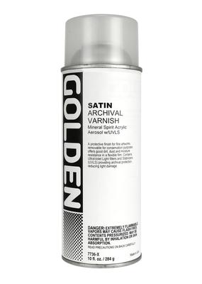 Golden Golden Acrylic Archival Varnish Spray Satin 10 Ounce