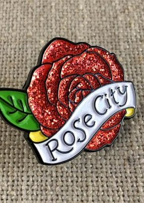ACBC Enamel Pin Rose City Glitter