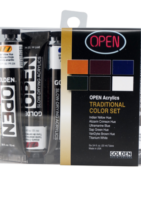 Golden Golden Open Acrylic Traditional Color 6 Piece Set