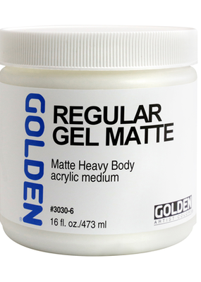 Golden Golden Acrylic Regular Gel Matte 16 Ounce