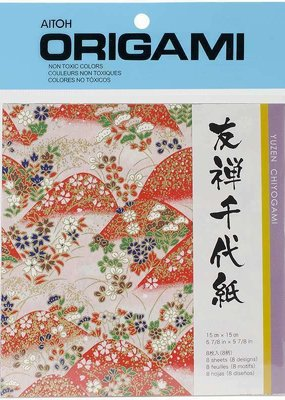 Aitoh Origami Paper Yuzen Chiyogami