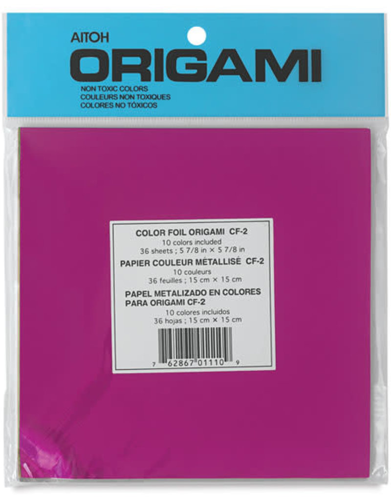 Aitoh Origami Paper Assorted Colors Foil