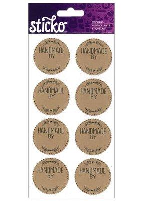 American Crafts EK Sticko Sticker Handmade Labels 8pc