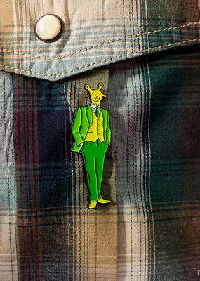 Archie McPhee Enamel Pin Slugman