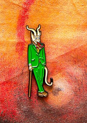 Archie McPhee Enamel Pin Krampus