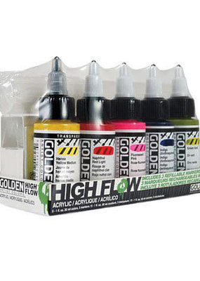 Golden Golden High Flow Acrylic 5 Color 3 Marker Set