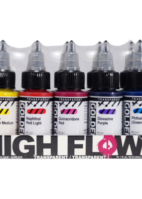 Golden Golden High Flow Acrylic Transparent 10 Color Set