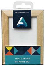 Art Alternatives Mini Canvas & Frame Set  Pine 2.5 x 3.5 Inch
