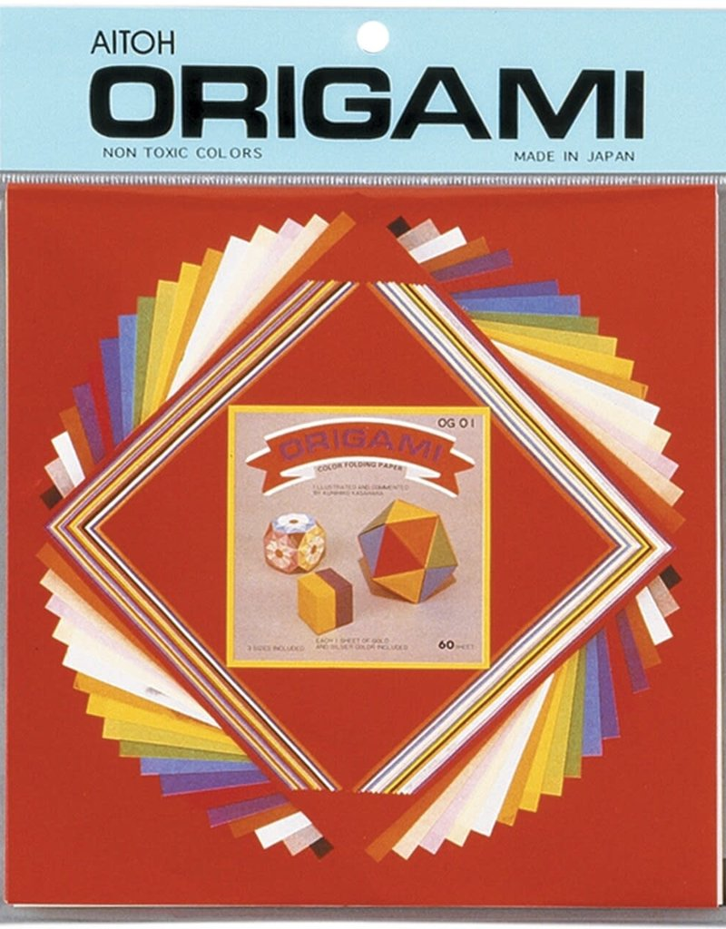 Aitoh Origami Assorted Sized Small Papers 60 Sheet pack