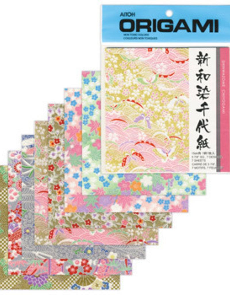 Aitoh Origami Paper Shinwazome Chiyogami