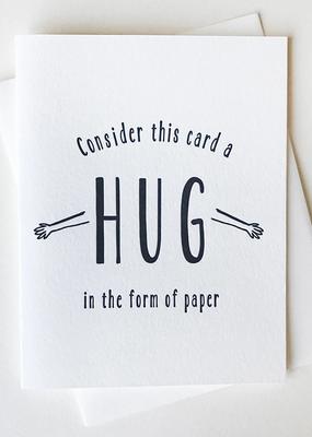 Steel Petal Press Card Paper Hug