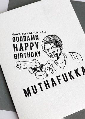 Steel Petal Press Card Muthafukka