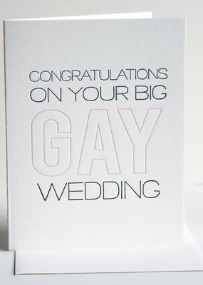 Steel Petal Press Card Gay Wedding