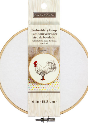"""Embroidery Hoop With Fabric 6"""""""