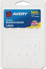 Avery Avery Reinforcement Labels White 560pc