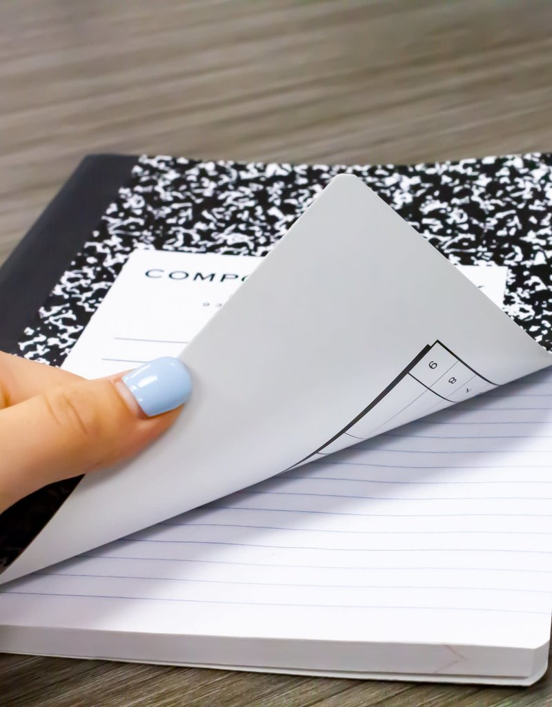 Bazic Composition Book Black Marble 100 Sheets Wide Ruled