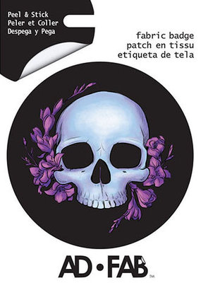 Ad-Fab Adhesive Fabric Patch Skull