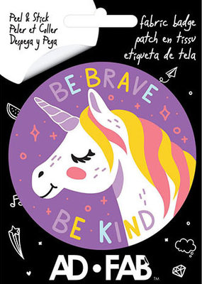 Ad-Fab Adhesive Fabric Patch Be Brave Be Kind