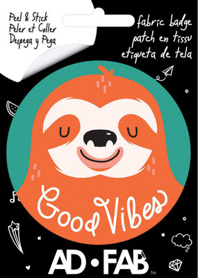 Ad-Fab Adhesive Fabric Patch Good Vibes