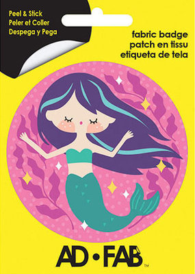 Ad-Fab Adhesive Fabric Patch Mermaid