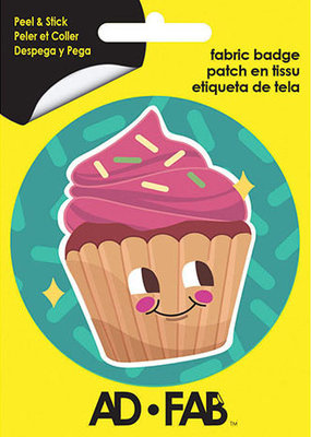Ad-Fab Adhesive Fabric Patch Cutie Cupcake