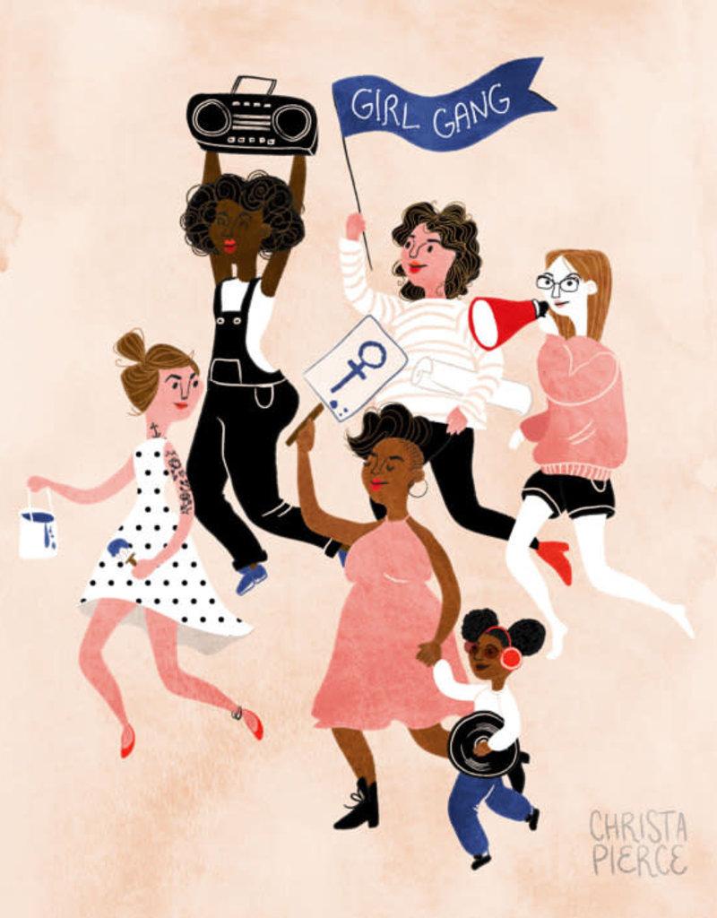 Wild Optimist Card Girl Gang