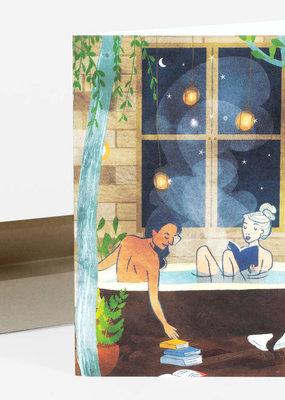 Wild Optimist Card Night Bath Ladies