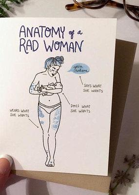 Wild Optimist Card Anatomy of a Woman Blue