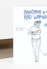 Christa Pierce Card Anatomy of a Woman Blue
