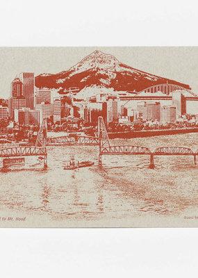 Urban Retrospectives Postcard - Portland to Mount Hood