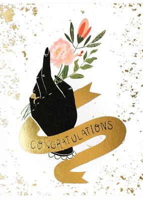 Christa Pierce Card Congrats With Hand