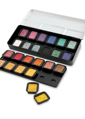 Finetec Finetec Artist Pearlescent Watercolor Paint Set 24 Color Set