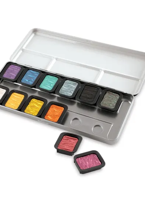 Finetec Finetec Artist Pearlescent Watercolor Paint 12 Color Set