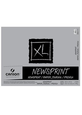 Canson Newsprint Rough 18 x 24 Inch 100 Sheet