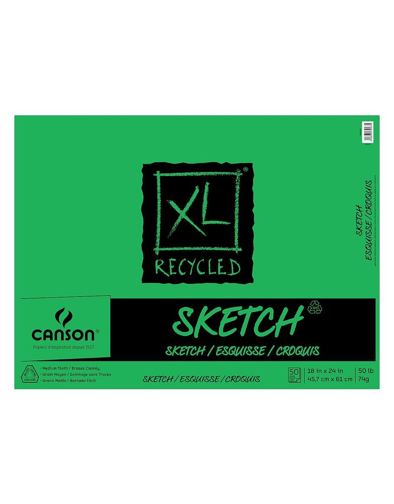 """Canson XL Recycled Sketch Pad - 18"""" x 24"""" 50 Shts"""