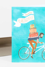 Christa Pierce Card Birthday Bicycle Cake