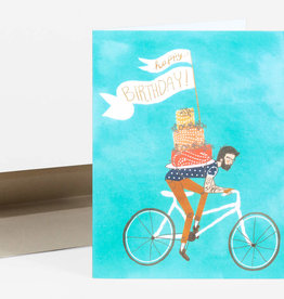 Christa Pierce Card Birthday Bicycle Cake