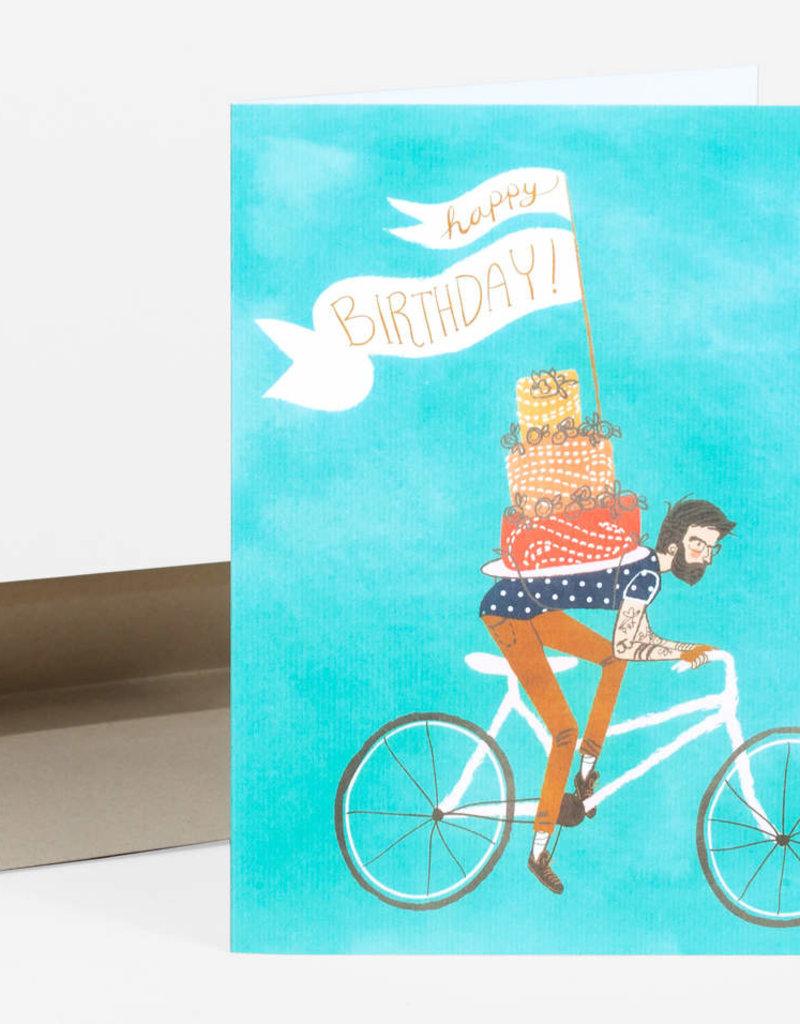 Wild Optimist Card Birthday Bicycle Cake
