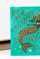 Wild Optimist Card Birthday Mermaid