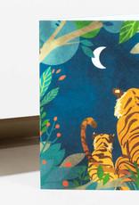 Wild Optimist Card Tigers at Night