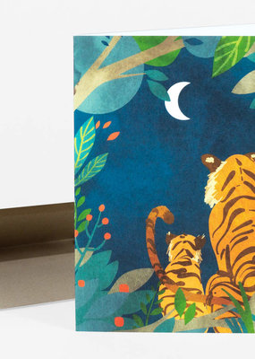 Christa Pierce Card Tigers at Night