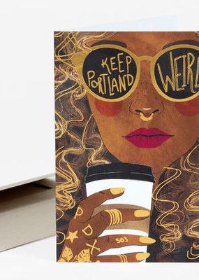 Christa Pierce Card Keep Portland Weird Black