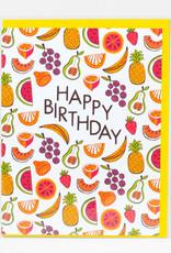 Alison Cole Card Happy Birthday Fruits