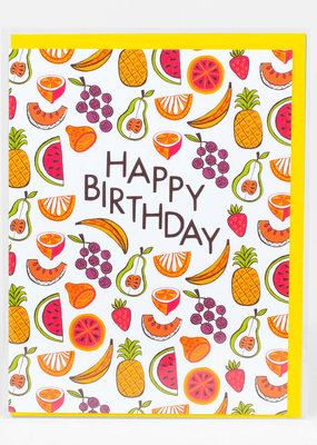 Alison Cole Card Happy Birthday Fruits