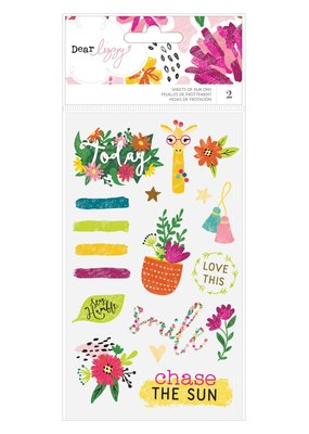 American Crafts Stickers Rub Ons Dear Lizzy