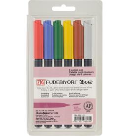 Kuretake Zig ZIG Fudebiyori 6 Color Set