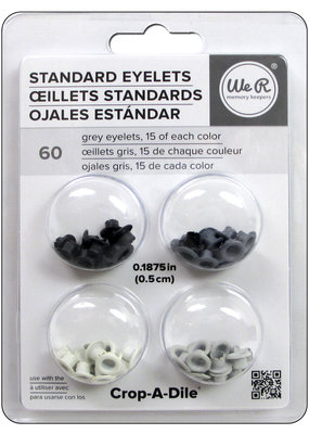 American Crafts We R Memory Crop-A-Dile Eyelet Standard Grey