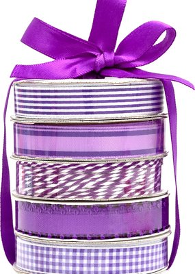 American Crafts Premium Ribbon 5 Pack Purple