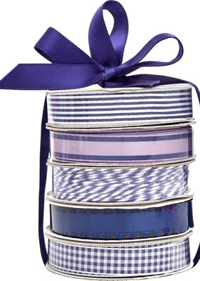 American Crafts Premium Ribbon 5 Pack Navy